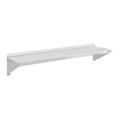 Wall Shelf Easy Mounting Assembly Adjustable Simple Design Stainless Steel 120Cm