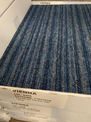Vienna carpet tiles blue/grey contract floor office candy Strip