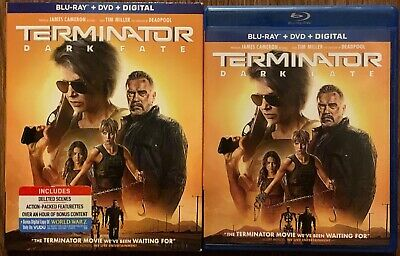 Terminator Dark Fate Blu Ray Dvd 2 Disc Set + Slipcover Sleeve Buy It Now Action