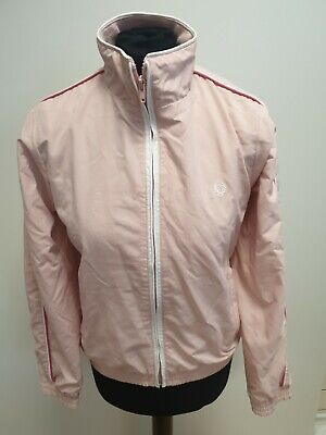 G482 Girls Fred Perry Pink Full Zip Lightweight Jacket Age 13-14 Years