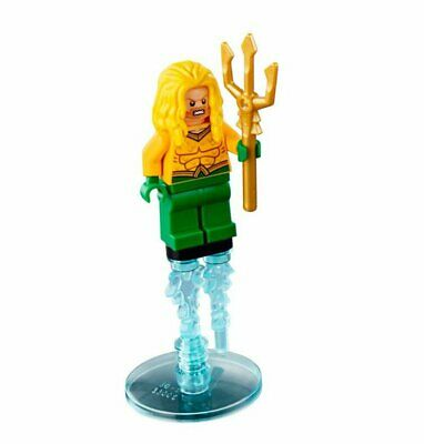 BM051 Lego Super Heroes Aquaman Minifigure with Trident Weapon /& Shark 76000 NEW