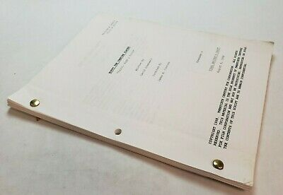 "BUFFY THE VAMPIRE SLAYER / 1998 TV Script powerful vampire ""Faith, Hope & Trick"""