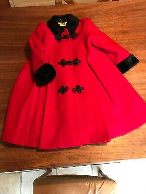 Sarah Louise Red Girls Coat Aged 4 Years