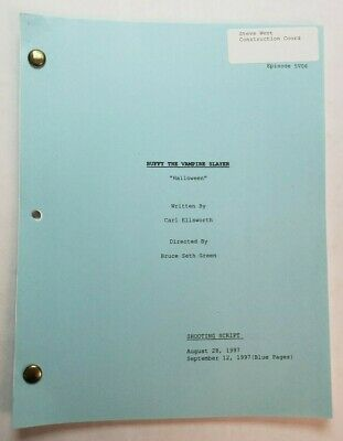 "BUFFY THE VAMPIRE SLAYER / Carl Ellsworth 1997 Script, costume shop ""Halloween"""