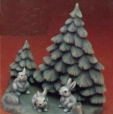 Ceramic Mold Molds LIGHTABLE CHRISTMAS TREES BACKDROP Macky 5114