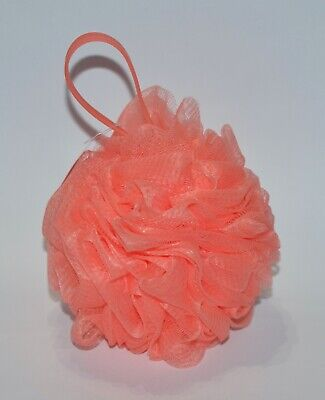 BATH /& BODY WORKS STRIPED PINK ORANGE FISH SHOWER SPONGE ROPE STRAP LOOFAH POUF
