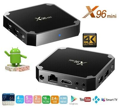 Box Android Tv X96 Mini 4K OTT H.265 2/16GB Quad-Core Android 7.1.2 Originale