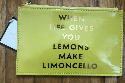 Kate Spade NEW YORK LIMONCELLO Pencil Pouch Lime  Sharpener, Eraser, Pencil