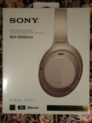 **BRAND NEW SEALED!** silver Sony WH-1000XM3 wireless noise canceling headphones