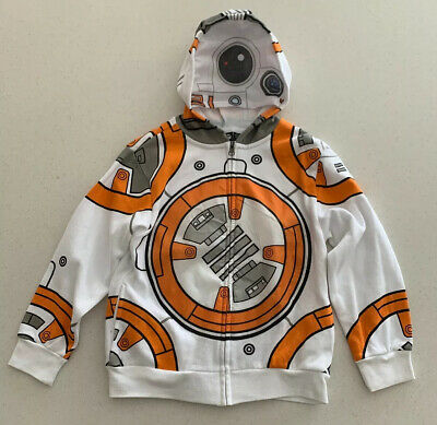 Zip up Front Mask Hoodie Graphic Sweatshirt NEW Star Wars NWT Boys S BB-8