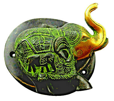 Elephant Shape Antique Vintage Finish Handcrafted Brass Door Knocker Home Decor