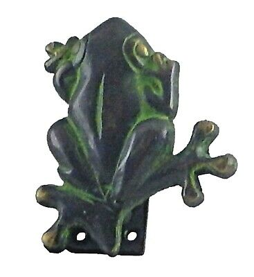 Green Frog Shape Vintage Antique Style Handcrafted Brass Door Knocker Home Decor