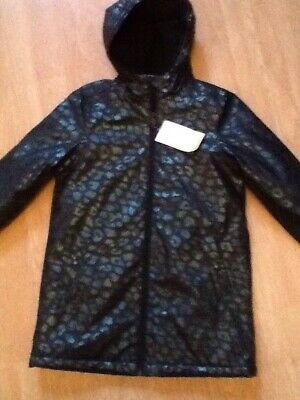 Girls Coat Aged 8/9 Years From M&S Bnwt Rrp £34. Black Mix