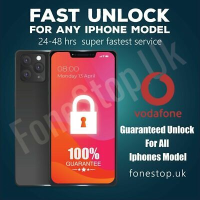 Vodafone Express Unlock Code service iPhone X, XR ,XS,XS MAX  35-40 DAYS