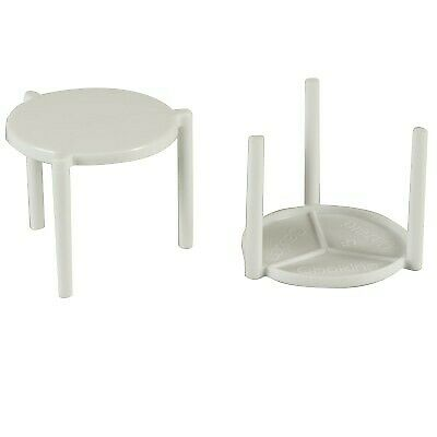 NEW White Plastic Pizza Tables - 45mm - 28mm - CARTON(1000) - Kent Paper