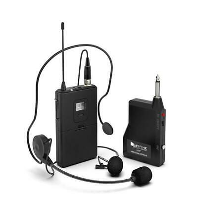 Output Microphone 20 Channel Uhf Lavalier Headset Podcasting Recording Mic Tools