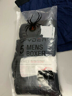 Spyder Mens Boxer Shorts  Briefs 5 Pack New In Pack RRP £24.99 GIFT Size Large