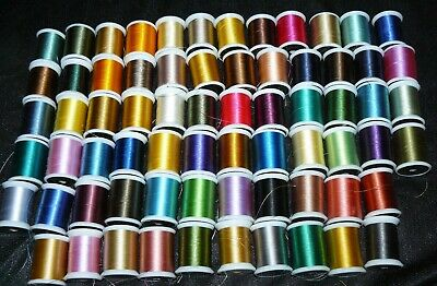 Lot of 69 Spools Janome Embroidery Thread Acrylic Assortment of Colors
