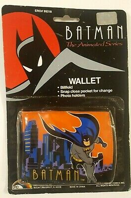 Vintage 1993 BATMAN The Animated Series Bifold WALLET, New & Sealed on Card