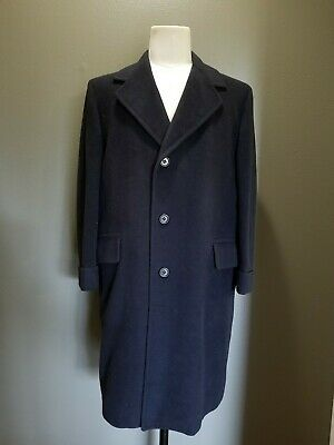 Vintage Brownings Fifth Ave. New York Pure Cashmere Coat Men's Black 40S EVC
