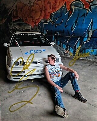 """Fast and Furious """"Jesse's Garage"""" 8x10"""" Glossy -- AUTOGRAPHED"""