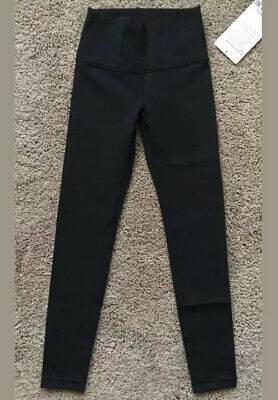Ivivva Size 8 Rhythmic Tight High Low Black BLK Luon Pant Roll Down Hi Rise NWT