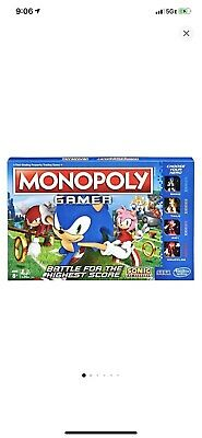 Monopoly Gamer Sonic The Hedgehog Edition Board Game for Kids Ages 8 & Up Sonic