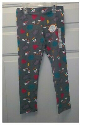 NEW Girls Wonder Nation Cotton Knit Gray Unicorn Leggings Size S & M