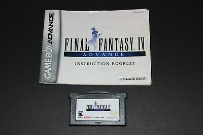 Final Fantasy IV (Nintendo Gameboy Advance 2005) w/ Manual - Tested & Authentic