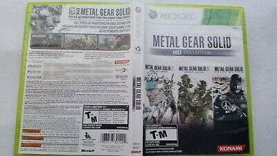Metal Gear Solid HD Collection (Microsoft Xbox 360) Complete Authentic