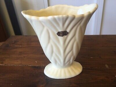 Vintage Casey Ware Cream Vase with Sticker. AUSTRALIAN Pottery