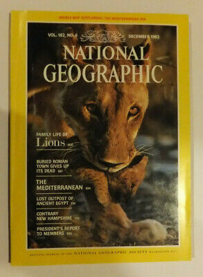 National Geographic Magazine Dec 1982 Vol 162 No 6 without map