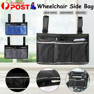 Wheelchair Side Bag Accessories Organizer Waterproof For Wallet Mobile Phone NEW
