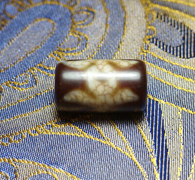 Authentic Old Tibetan Agate Dzi Bead 'Gui Ren' Blessed By Eminent Tibetan Lama
