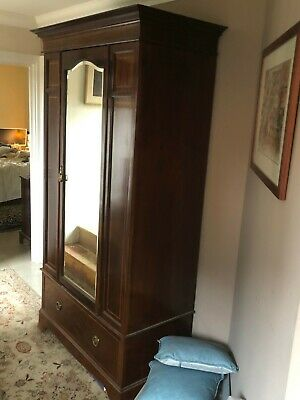 Edwardian Inlaid Mahogany Single Door Wardrobe