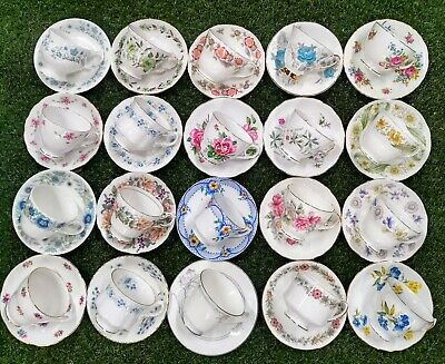 Vintage Mismatched China Tea Cups and Saucers Sets Party Wedding Bulk