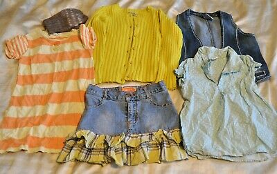 Girls 3-4 Years Clothes Bundle 6 Pieces, Includes NEXT. Cardigan, Denim Skirt..