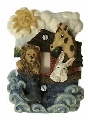 Noah S Ark Animals 1 Nursery Decor Light Switch Cover Plate 6 49 Picclick