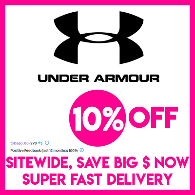 10% OFF Under Armour Promo Coupon Code - Online Only - SUPER FAST DELIVERY