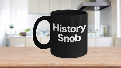 History Teacher Mug Black Coffee Cup Funny Gift for US World Ancient Professor R