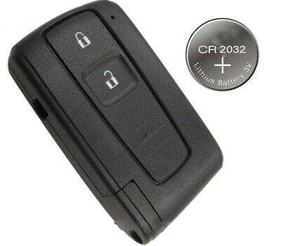 Fits TOYOTA COROLLA VERSO PRIUS 2 BUTTON SMART REMOTE KEY CASE + Blade Battery