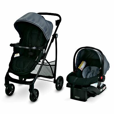 Graco Essentials Travel System with SnugRide 30 Infant Car Seat 7 ways to Roll