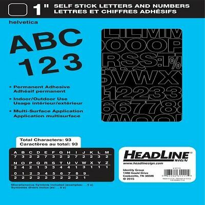 U.S STAMP /& SIGN// IDENTI 31741 STICK ON VINYL LETTERS HELVETICA 1//4IN CAPS B...