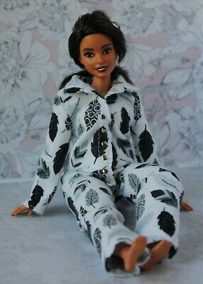 Flannel Pajamas for Dolls. №065 Clothes for Curvy Barbie Doll