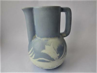 Art Deco English Art Pottery Jug Vase, 1930's Porcelain Jug Vase
