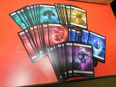 100 FULL ART BASIC LAND -mtg MINT Theros Beyond Death Mana 20 Each Type FREE POS
