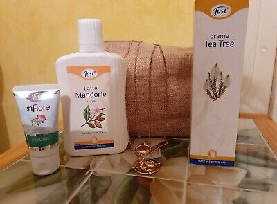 Latte mandorle just crema tea tree peeling viso infior idea regalo San Valentino