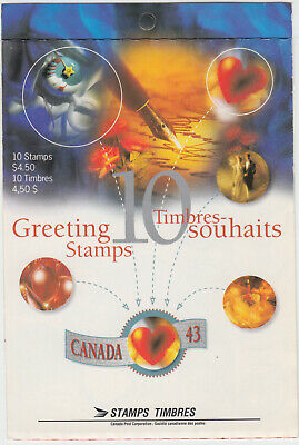 Canada -  BK166b Greetings Booklet (Open Cover) - MNH