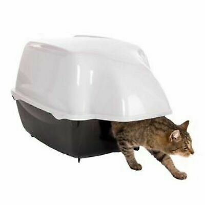 Outdoor Covered Cat Litter Tray Box Kitty Toilet Waterproof Hooded Extra Large