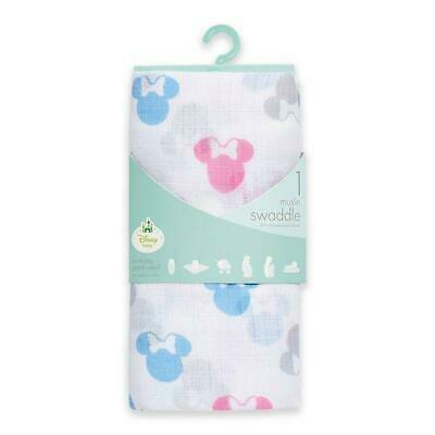 Muslin Swaddle Blankets : Aden & Anais Baby Girl Minnie Mouse Muslin Blanket